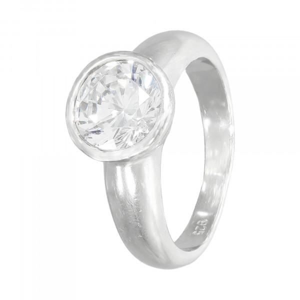 Ring 925 Silber mit Kristall