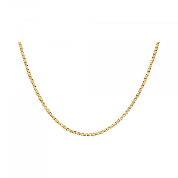 Kette 750 Gelbgold venezianisches Muster 50 cm