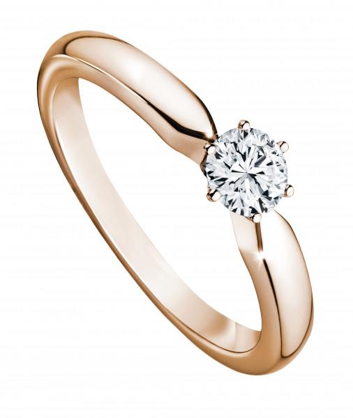 Ring 585 Roségold mit 1 Brillant 0,25 ct.W-SI