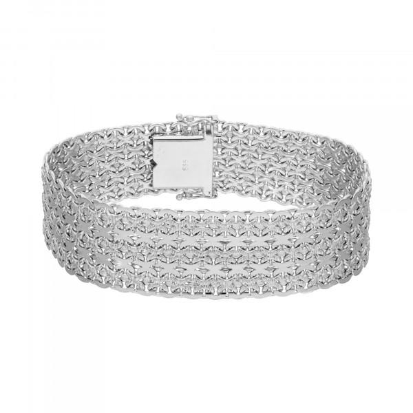 Armband 585 Weißgold 19 cm