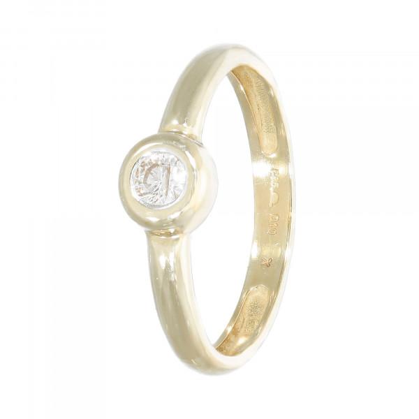 Ring 585 Gelbgold mit 1 Diamant ca.10/00