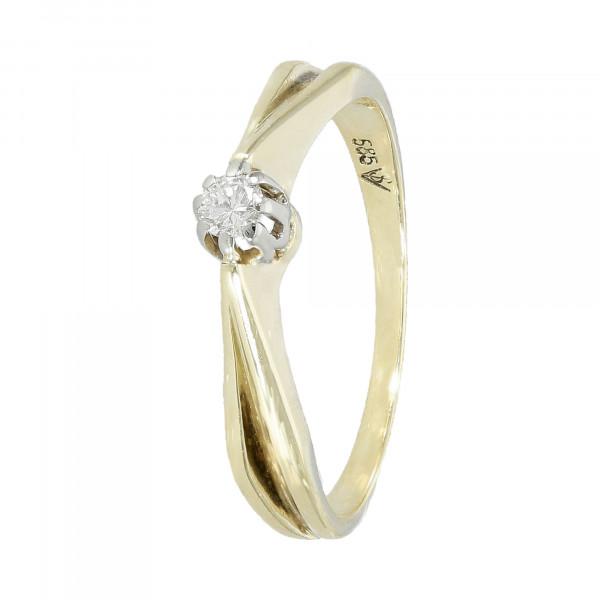 Ring 585 Gelbgold mit Brillant ca. 0,10 ct.