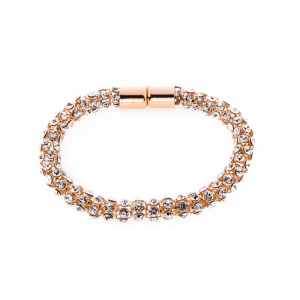 Armband mit Kristallen roségoldfarbig
