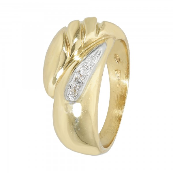 Ring 750 bicolor mit Brillanten