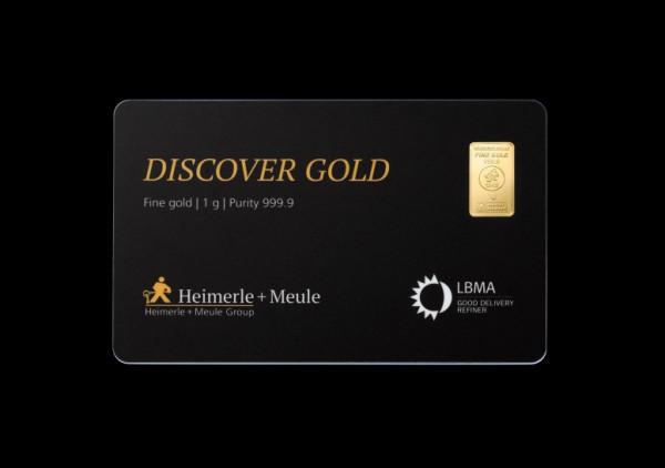 FineCard Discover Goldbarren 1 x 1 Gramm