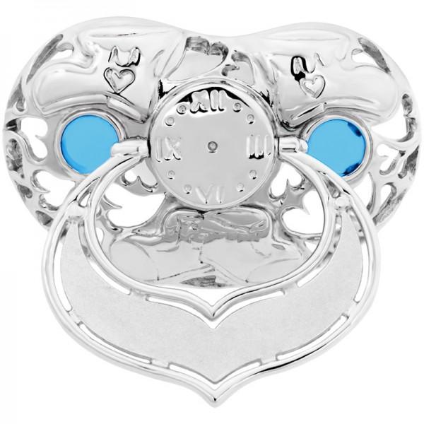 Lollino Klassik, Motiv Babyschuhe, strahlende Zirkonia blau