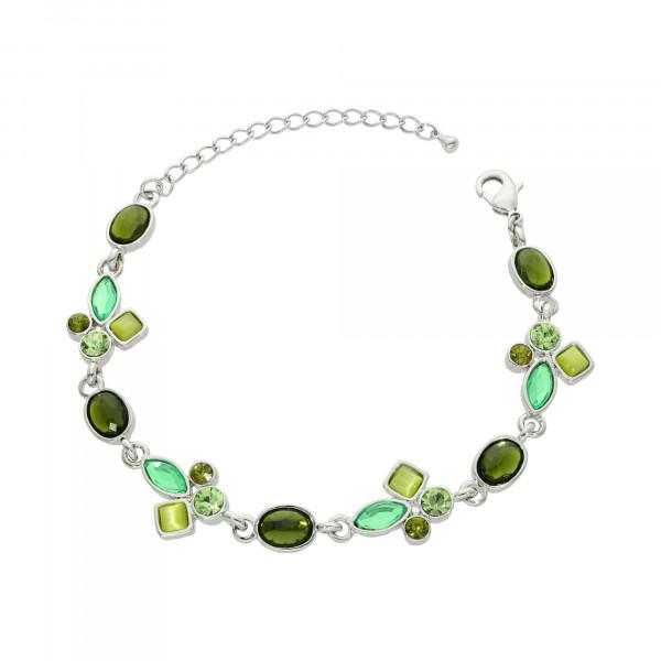 Armband mit grünen Kristallen