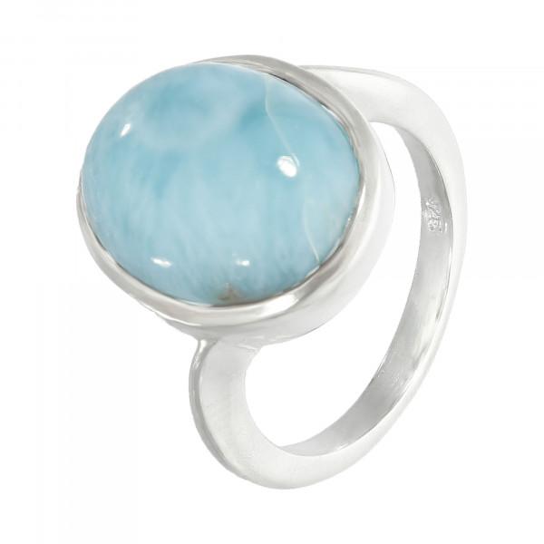 Ring Silber 925 mit 1 hellblau Stein