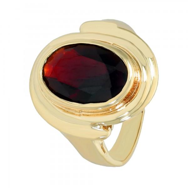 Ring 585 Gelbgold mit Granat ca. 2,54 ct