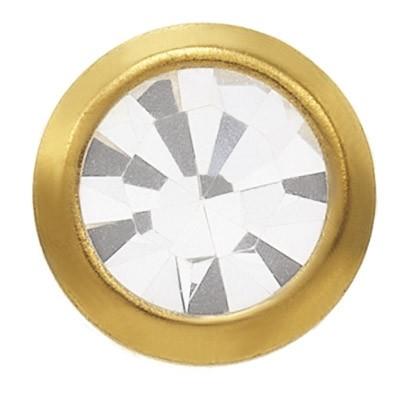 Ohrstecker Gelbgold 18 Karat mit Kristall 3 mm
