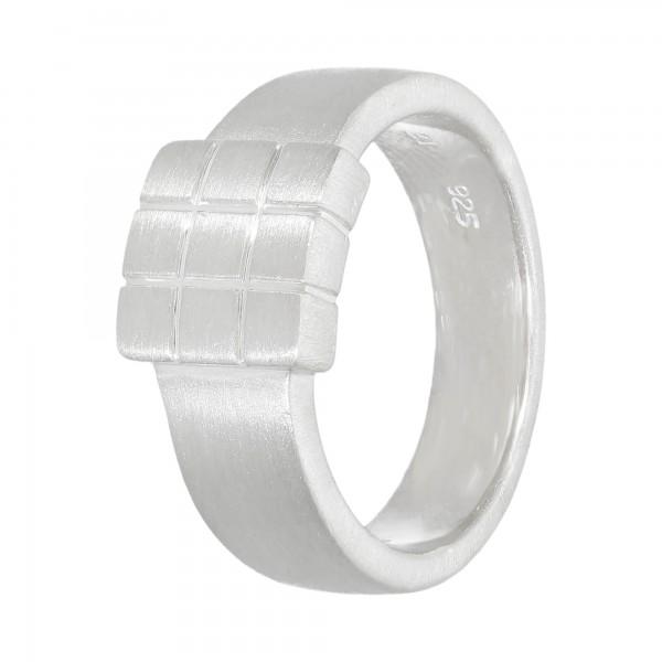 "Ring 925 Silber ""Quadrat"" Gr. 60"