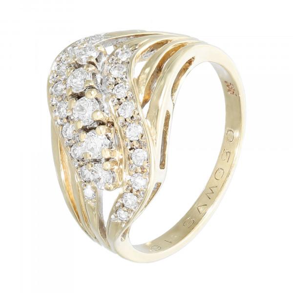 Ring 585 Gelbgold mit Brillanten ca. 0,50 ct.