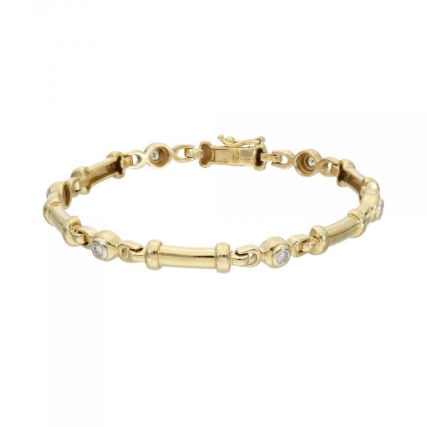 """Armband von """"Wempe"""" 750 Gelbgold mit Brillanten 0,27 ct."""