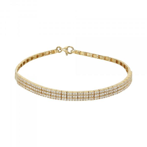 Armband 585 Gelbgold mit Zirkonia
