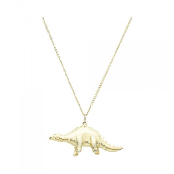 """Kette Silber/vergoldet 925 mit Anhänger """" Stegosaurus"""""""