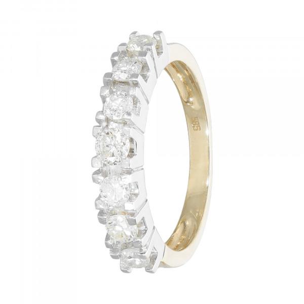 Ring 585 bicolor mit Brillanten ca. 0,63ct.
