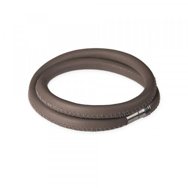 Leder- Armband 6mm taupe