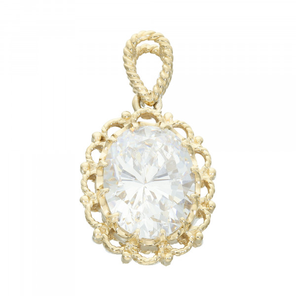 Anhänger Silber vergoldet 925 mit Bergkristall