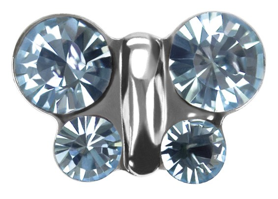 Ohrstecker Chirurgenstahl Schmetterling blau