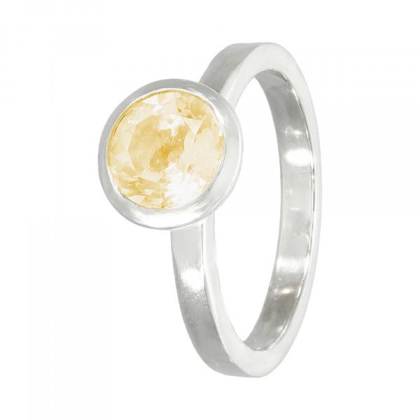 Ring 925 Silber mit Citrin