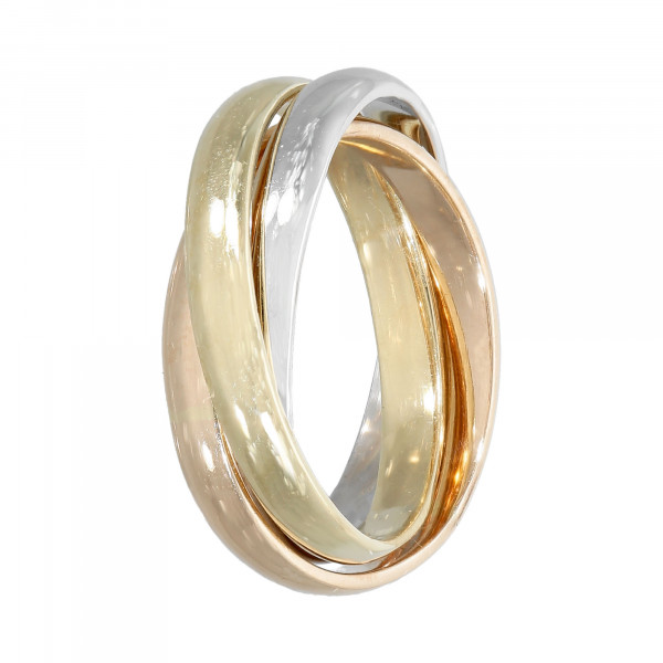 Ring 585 tricolor 3 teilig