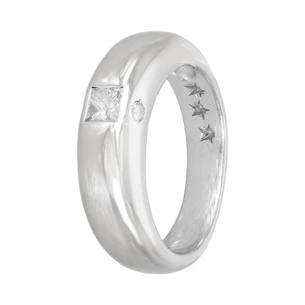 Ring 750 Weißgold mit Brillanten ca. 0,24 ct.