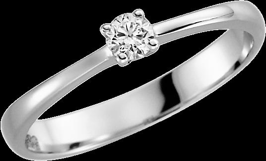 Solitär-Ring Silber 925 mit 1 Brillant 0,08 ct. w-si