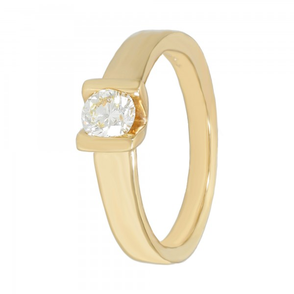 Ring 750 Gelbgold mit Brillant ca.0,40ct.